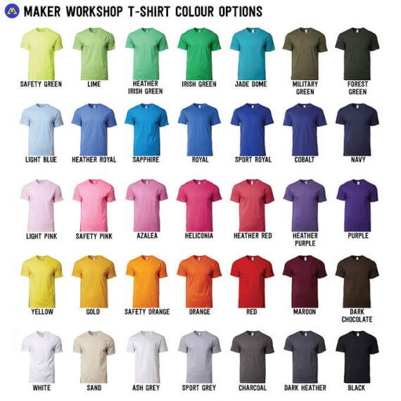 colour t-shirt options