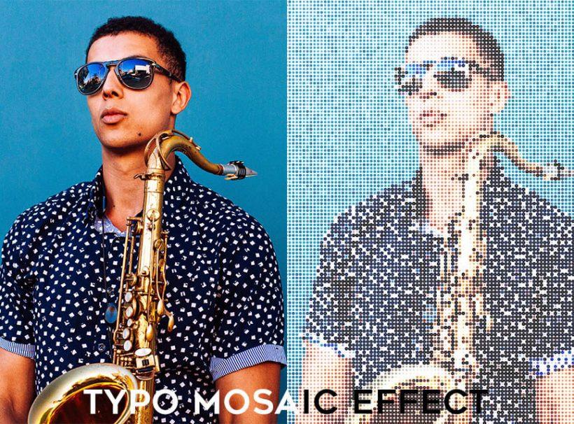 Customized Typo Mosaic Photo Editing Service