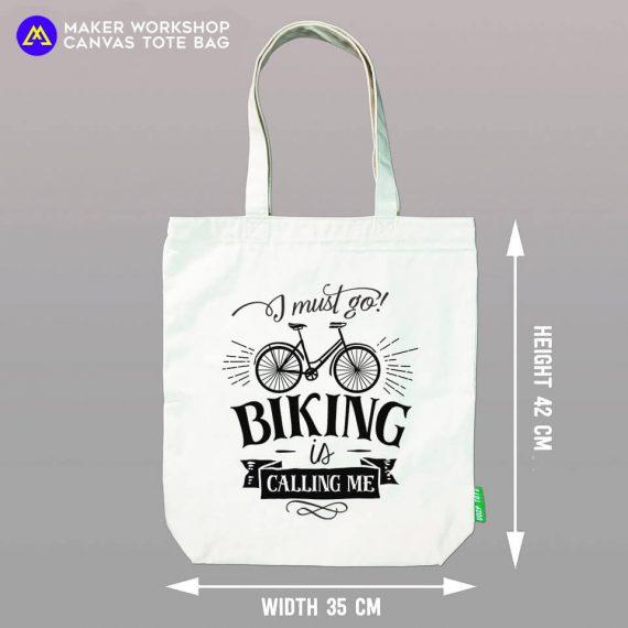 I Must Go Biking TOTE BAG