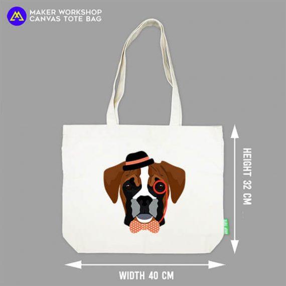 Hipster Dog Tote Bag