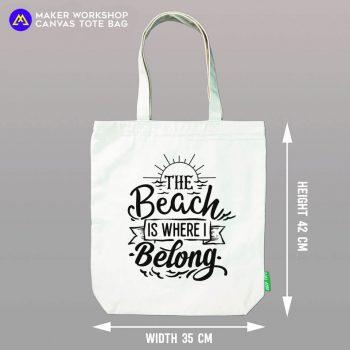 The Beach is Where I Belong Tote Bag