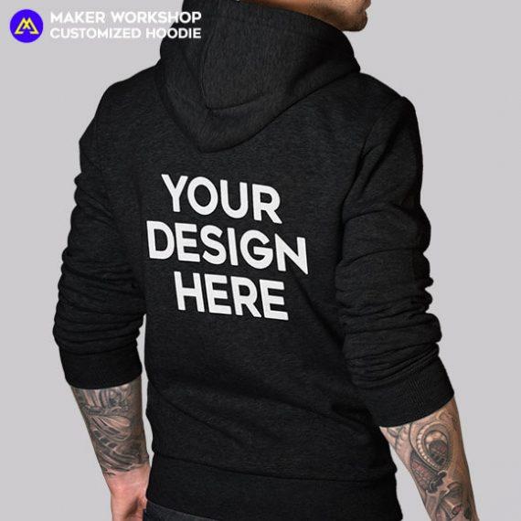 custom hoodie black back