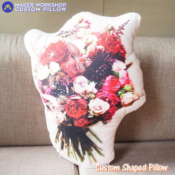 custom shaped photo pillow