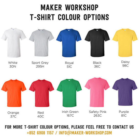 Maker Workshop T-Shirt Colour