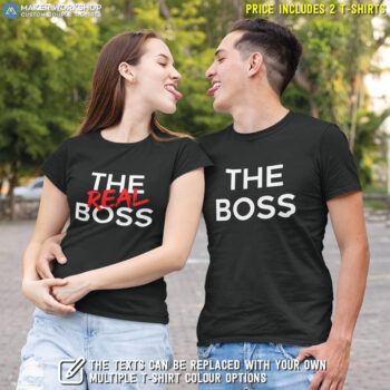 The Boss & The Real Boss Couple T-Shirts
