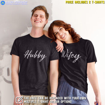 Hubby & Wifey Couple T-Shirts